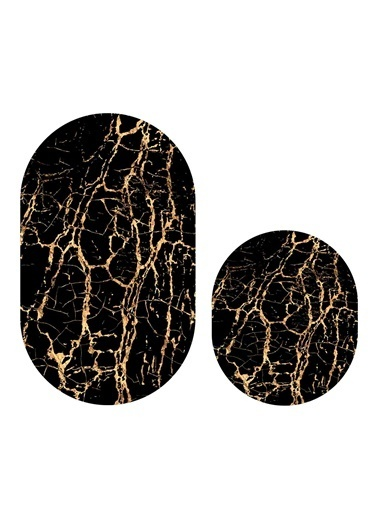 Soley Mermer 06 Djt. 2 Li Oval Banyo Paspas Seti Klozet Takımı Renkli